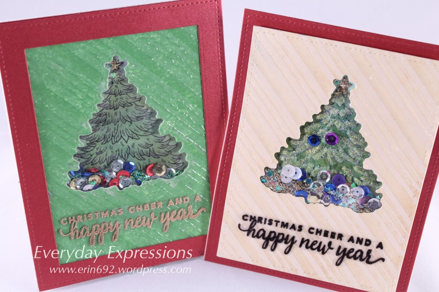 Merry Christmas Tree Shaker Card