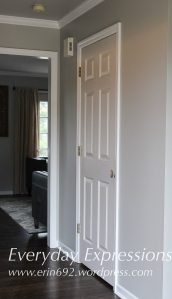 Before: White interior foyer door.