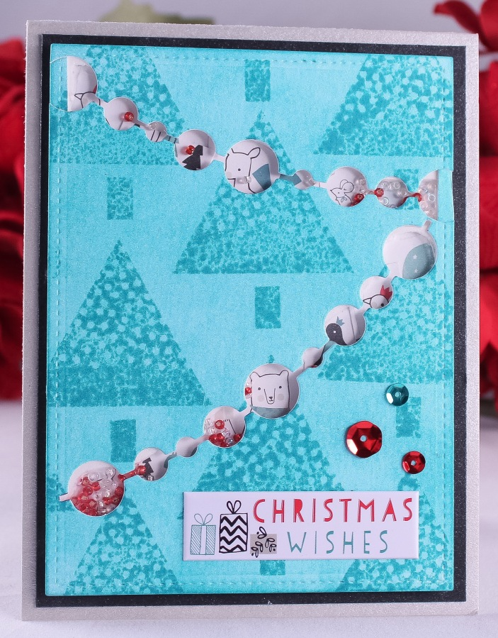 Blue Christmas Shaker Card