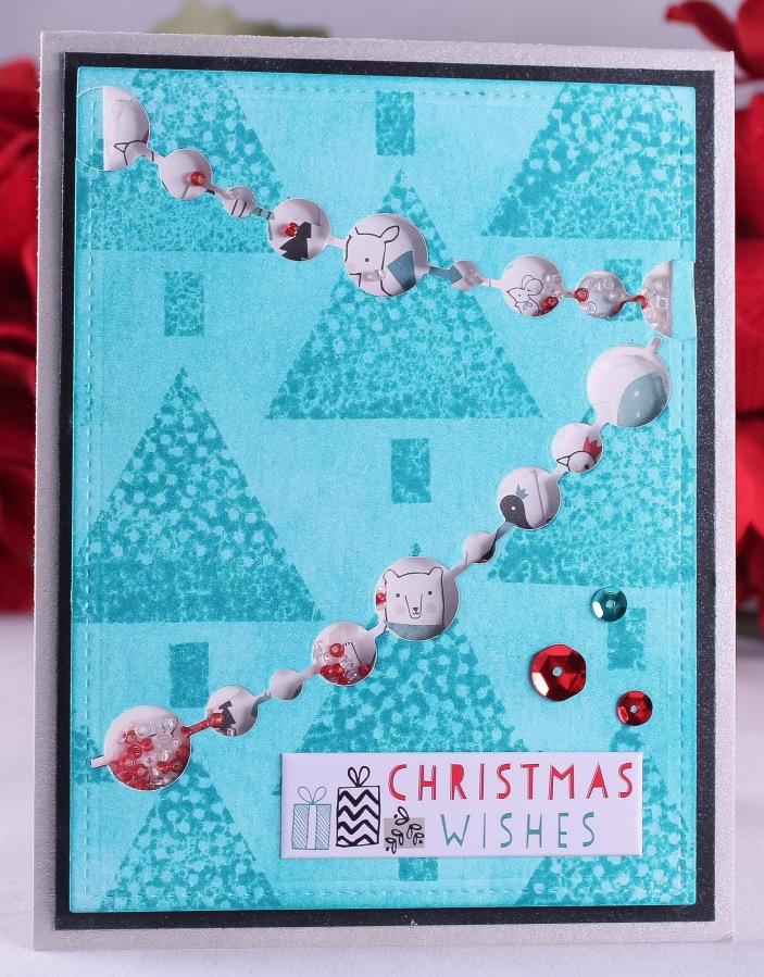 Blue Christmas ShakerCard