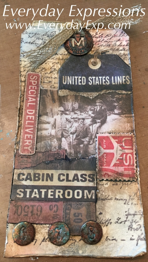 Distressed Collage Tag