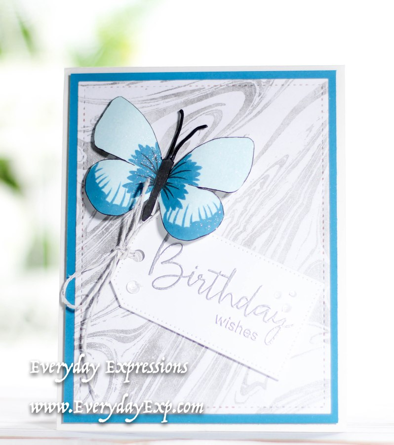 Marbled Background Birthday Card