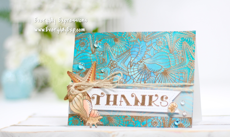 Whimsy Seashell Background Stamp