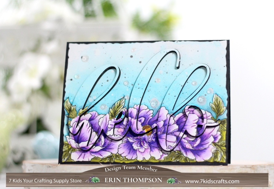 Altenew Beautiful Peony Watercolor Eclipse Card