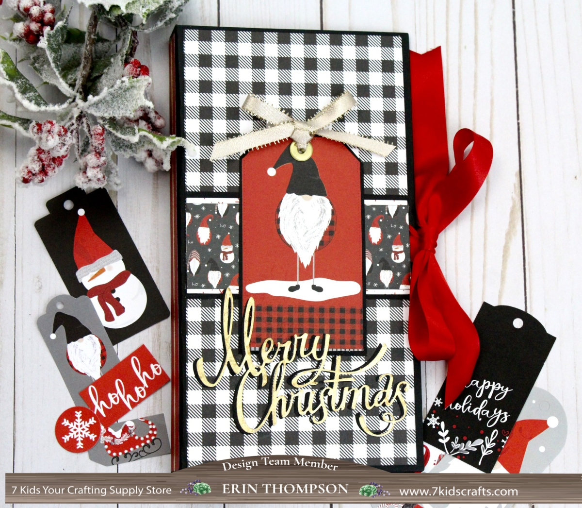 Die Cut Cardstock Kringle /& Co Collection Tags Photo Play Christmas