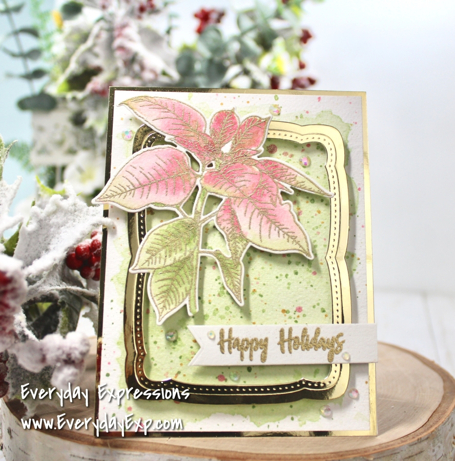 Altenew Watercolored Festive Poinsettia