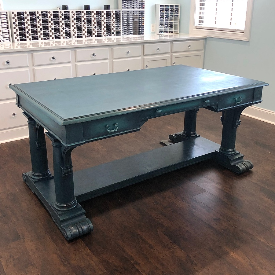 Craft Room 2021 Series: Chalk Painted AntiqueTable