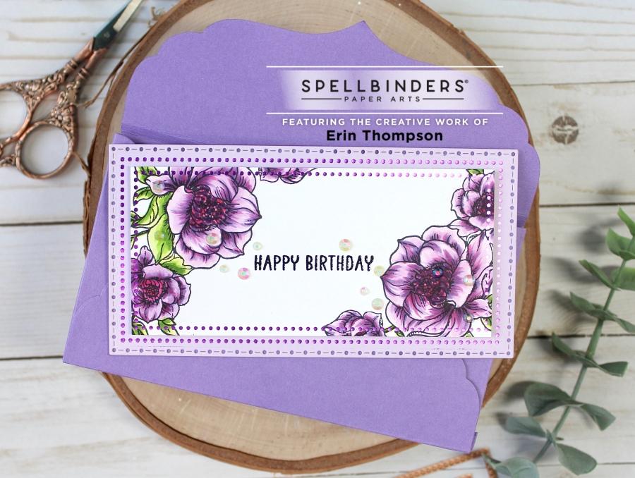 Spellbinders Paper Arts Glimmer Hot Foil Mini SlimlineCard